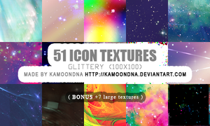 51 icon textures (glittery) by KaMoonDNA