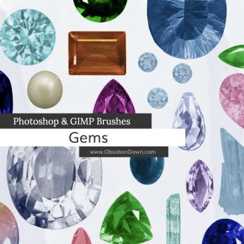 Gems and Stones Photoshop and GIMP Brushes by redheadstock