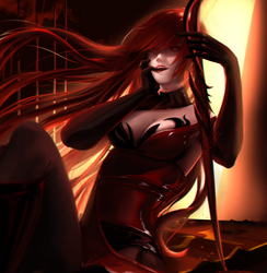 Elsword - Elesis Bloody Queen fanart by NeKoruu
