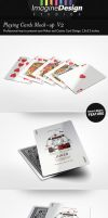 Playing Cards Mock-up V2 by idesignstudio