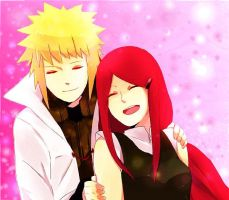 Minato and Kushina by AurorasSky