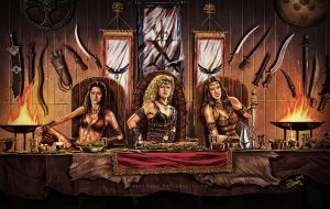 Xena - The Amazon Warriors by aaronwty