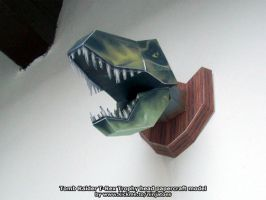 T-Rex Trophy head papercraft by ninjatoespapercraft