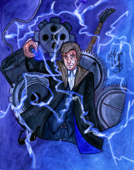 Doctor Who (watercolor) by 4OUS
