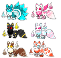 Slime Foxes Adopts 1/6 (OPEN) by RandomGatcha-Adopts