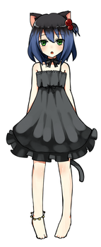 Collab: Cat Yami Concept Art by tsunyandere