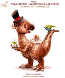 Daily Paint 1976# Teahistoric - Pachteacephalosaur by Cryptid-Creations