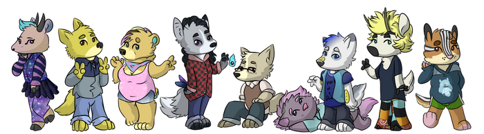 A Big Ol Trash Cat Group Picture by VictoryDanceOfficial