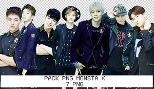 Pack PNG MONSTA X by KimNamJoonRapMon