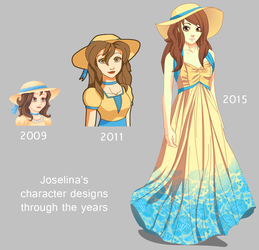 Joselina's character design by PinkFireFly