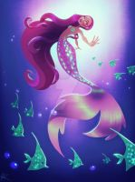 Purple Mermaid by DylanBonner
