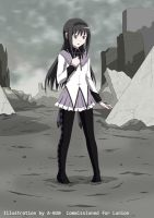 Homura Sinking into Despair 1 by A-020