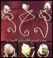 Bookmarks in Silver and Glass by WireMySoul