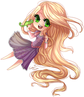 : Disney Doll : Rapunzel by MissElysium
