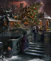 Christmas in The Practical Magic School by samaposebe