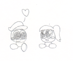 Kid Goombella and Goombario by smawzyuw2