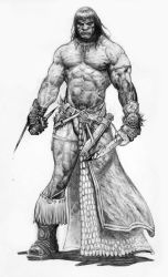 Conan short swords sketch by LiamSharp