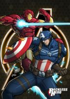 Avengers - Captain America and Iron Man by RecklessHero