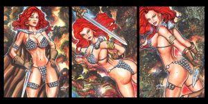 RED SONJA PERSONAL SKETCH CARDS by AHochrein2010