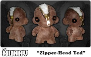 Zipper-Head Ted by Clanceypants