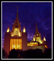 San Diego Temple at Night by skoticus