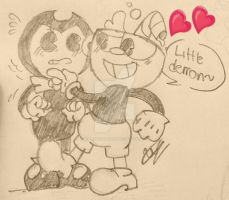 Bendy x Cuphead by TheArtistGamer3