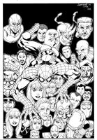 Amazing Spiderman #100 Cover Recreation by aaronlopresti