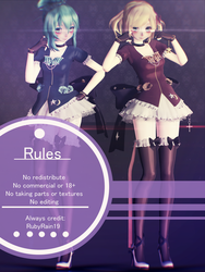 [MMD] Lucid Rin and Gumi Model DL by RubyRain19