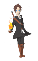 Concept art for main character by mkayswritings
