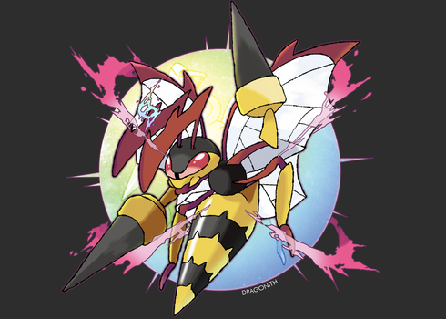 Mega Beedrill (FAN-MADE) by Dragonith