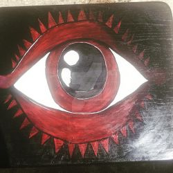 Eye of Sauron End Table by Kryssieness