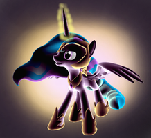 Solar Warrior (With Background) by iLucky7