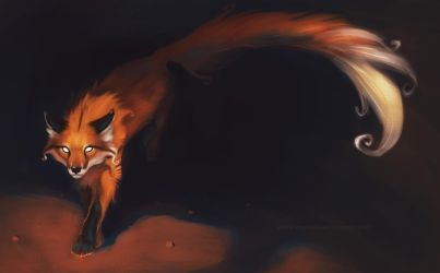 Super Long Tailed Red Fox by Fulemy