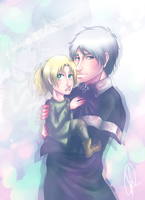 Hetalia: Prussia and little Poland... by wasipol