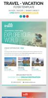 Travel - Vacation Flyer Template by webduckdesign