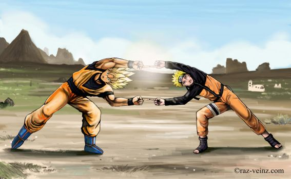 Goku and Naruto - Fusion by Raz-Veinz