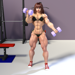 Candi working out by kittyelfie