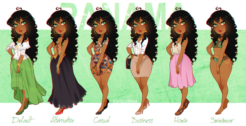 .:APH:. Panama Outfit Lineup by kamillyanna
