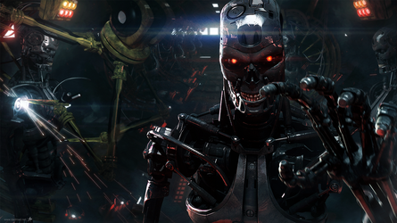 Skynet T800 Factory 2 -Wallpaper- by dadmad