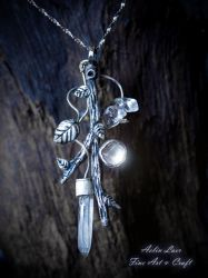 Silver Branch silver pendant by Gwillieth