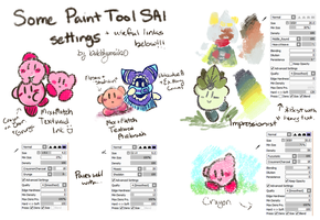 Some of my SAI brushes (read description) by bubblymaika