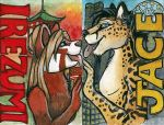 East meet West badges. by shiverz