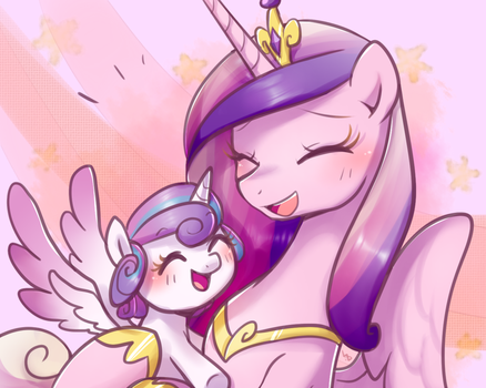 Cadance with Flurry Heart by Haden-2375