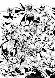 Megaman tribute ink by Andres-Blanco