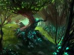 Magic the Gathering Forest card! by JordyLakiere
