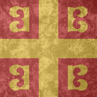 Byzantine Empire ~ Grunge Flag (1259 - 1453) by undevicesimus