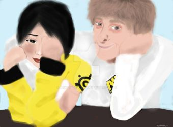 Dendi and I by mikanoelle