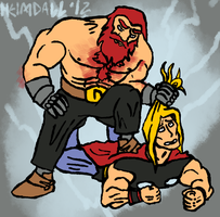Thor vs. Thor by AThousandRasps