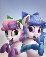 Melodia and Sweetie Belle by VanillaGhosties