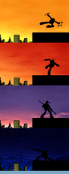 Stages of twilight by Myrling